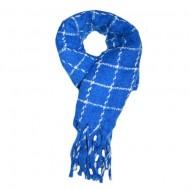 Fular dama Dalma ,model cu patratele,albastru