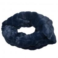 Fular Lenna cu insertii de blanita,model cilcular,nuanta de bleumarin