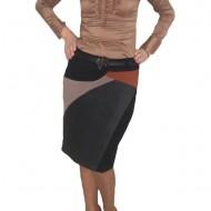 Fusta shic, in nuante de negru, combinat cu alte culori in design