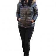 Jacheta casual Pamy,model sidefat ,nuanta de gri inchis