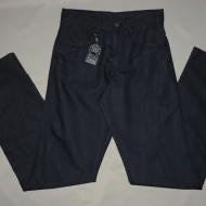 Pantalon barbati cu croiala dreapta, din bumbac de culoare albastra