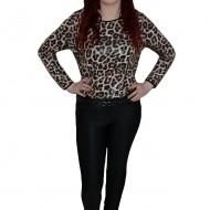 Pantalon chic, nuanta de negru, material usor elastic