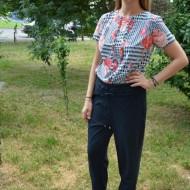Pantaloni casual lungi Aviana ,nuanta de bleumarin