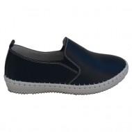 Pantof confortabil cu talpa usoara, piele culoare bleumarin