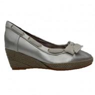 Pantof cu talpa intreaga, joasa, disponibil in nuanta de argintiu
