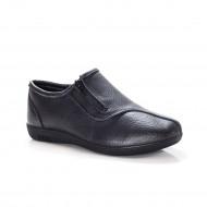 Pantof sport din piele neagra, talpa flexibila, inchidere cu fermoar