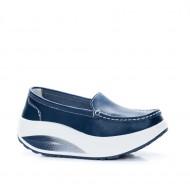 Pantofi dama Avelia sport cu talpa ortopedica,nuanta de albastru