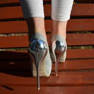 Pantofi dama, spectaculosi, argintii