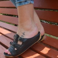 Papuc din piele naturala, talpa plata, confortabil