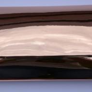 Poseta eleganta roz-metalic cu forma clasica, dreptunghiulara