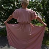 Rochie asimetrica in colturi de culoare plamanie