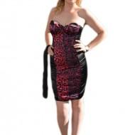 Rochie de seara, moderna de culoare negru-violet