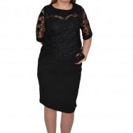 Rochie eleganta Arabella din dantela ,nuanat de negru