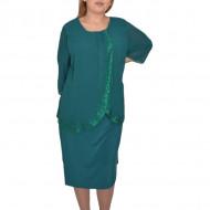 Rochie eleganta Suzane cu sclipici,nuanta de verde