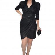Rochie eleganta Tallia,petrecuta ,insertii cu fir de lame,neagra