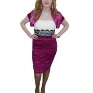 Rochie fashion, nuanta de mov, inchidere cu fermoar