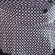 Rochie feminina,rafinata ,negru-alb,partea de sus cu peplum