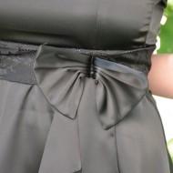 Rochie fermecatoare, cu croi tip gogosar, din material satinat