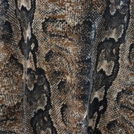 Rochie in clos ,cu imprimeu animal-print maro-bej