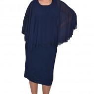 Rochie Maci cu aplicatii de strasuri ,nuanat de bleumarin