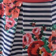Rochie shic, de vara, cu maneca scurta, multicolora