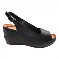 Sandale cu platforma nuanta de negru