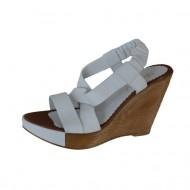 Sandale din piele naturala, cu platforma ,bretele incrucisate