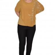 Bluza eleganta cu aplicatii deosebite Dakota,nuanta de mustar