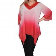 Bluza eleganta Yada cu aplicatii de margele ,nuanta de roz