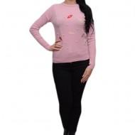Bluza fashion la baza gatului, nuanta roz pudra, de toamna-iarna