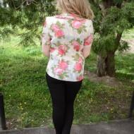 Bluze cu maneca scurta, de ocazie, multicolore