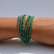 Bratara cu textura elastica,culoare bej,argintiu,alb,bleumarin,auriu,greenery,rosu