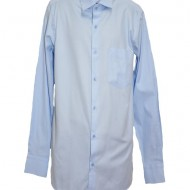 Camasa clasica, eleganta, albastra cu design de patratele mici