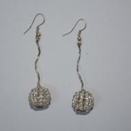 Cercei lungi, perle si pietre pretioase deosebite, lant fin si chic