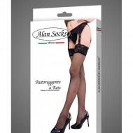 Ciorap de dama cu pantalon, negru, cu model deosebit tip plasa