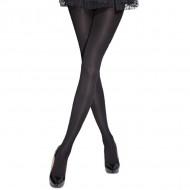 Ciorap gros de 100 DEN, culoare neagra, model simplu, elegant