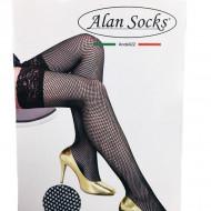 Ciorap pantalon cu model deosebit tip plasa si banda adeziva