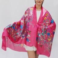 Esarfa cu model deosebit de culoare multicolora