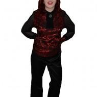 Pantalon deosebit negru, accesorizat cu curea cu model