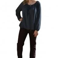 Pantalon modern culoare marsala, model tineresc, masura mare