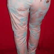 Pantaloni moderni, de culoare pudra, cu tur lasat