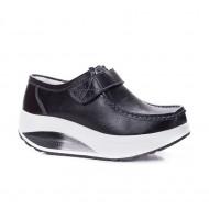 Pantof dama sport Dianne cu talpa ortopedica ,nuanta de negru