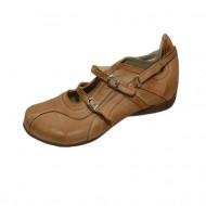 Pantof in nuanta de maro, cureluse fashion, catarama fina