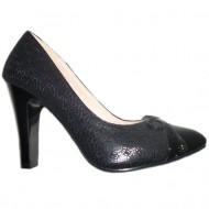 Pantof rafinat, nuanta de negru, design fin aplicat
