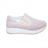 Pantofi sport dama ,roz cu perforatii si talpa grosa