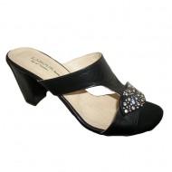 Papuc femei, rafinat, in nuante de negru