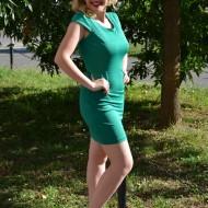 Rochie casual, feminina, rafinata, de culoare verde