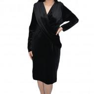 Rochie de ocazie Ilinka din catifea,petrecuta,neagra