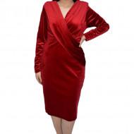 Rochie de ocazie Ilinka din catifea,petrecuta,rosu