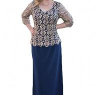 Rochie de seara, disponibila in marimi mari si nuanta de bleumarin